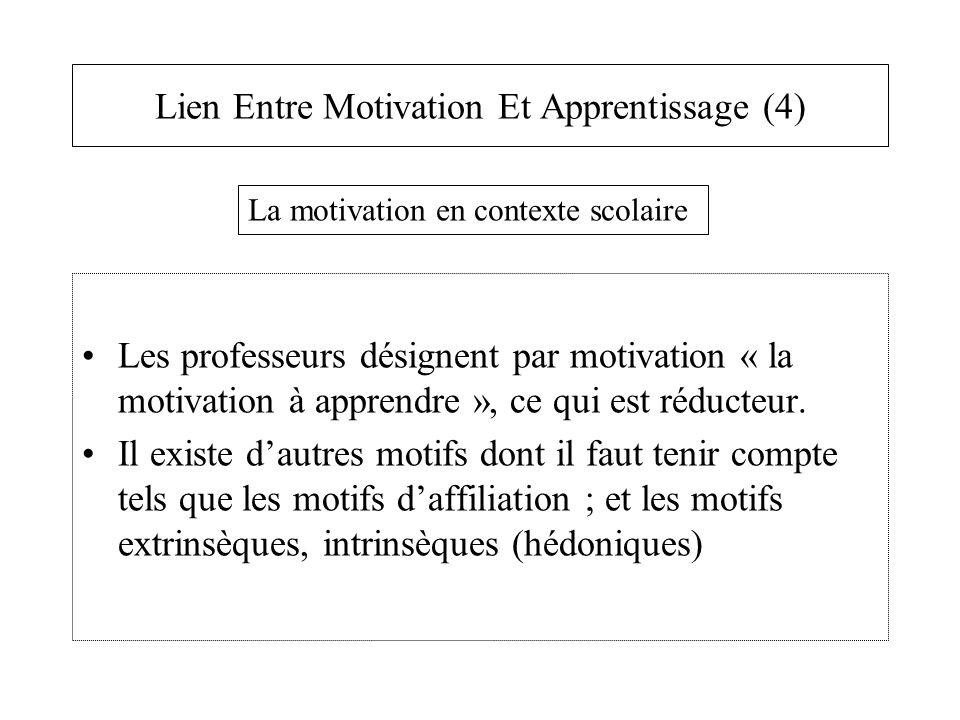 Lien Entre Motivation Et Apprentissage (4)