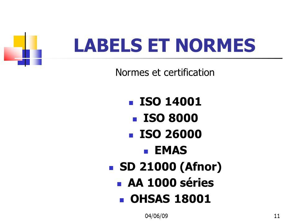 Normes et certification