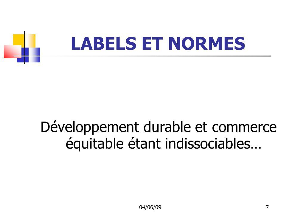 Développement durable et commerce équitable étant indissociables…
