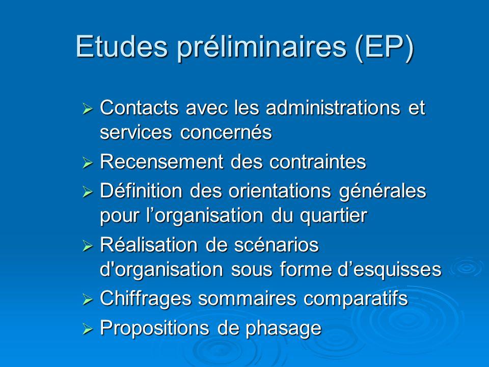Etudes préliminaires (EP)