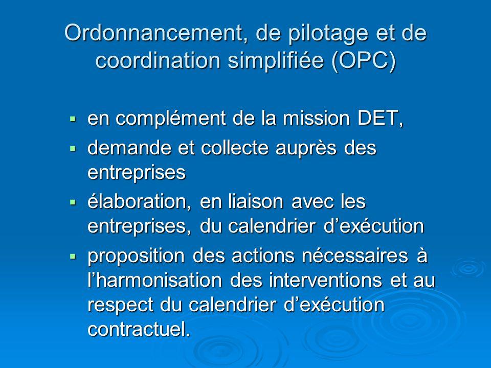 Ordonnancement, de pilotage et de coordination simplifiée (OPC)