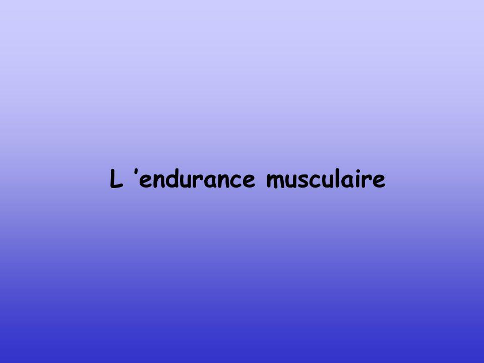 L 'endurance musculaire
