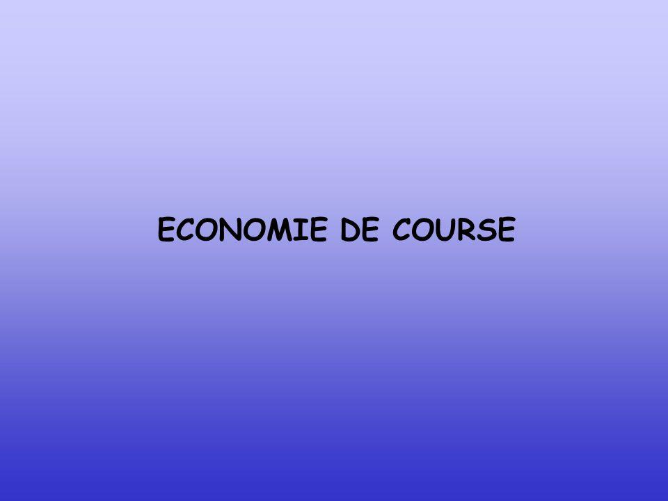ECONOMIE DE COURSE