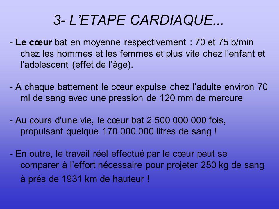 3- L'ETAPE CARDIAQUE...