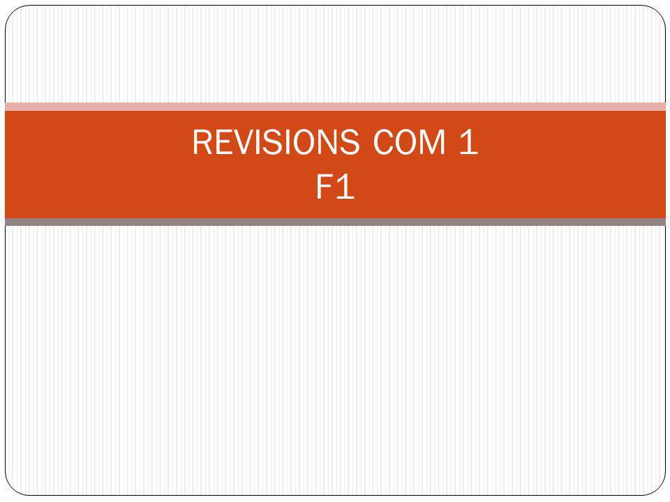 REVISIONS COM 1 F1