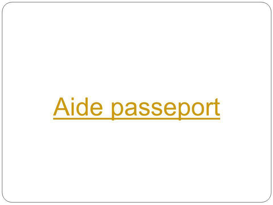 Aide passeport