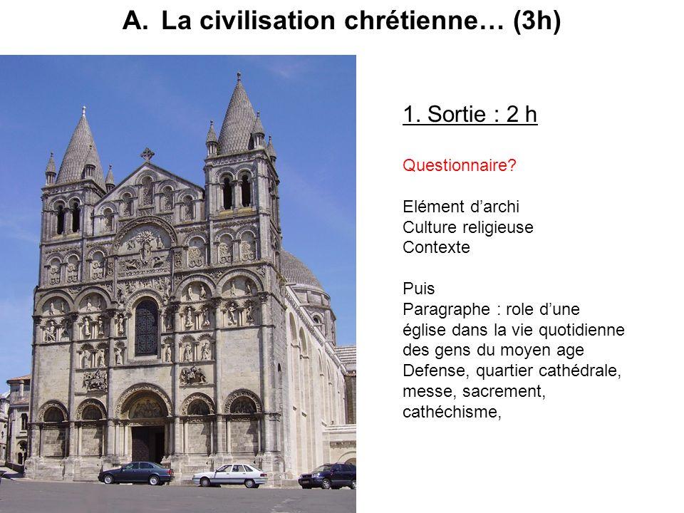 La civilisation chrétienne… (3h)