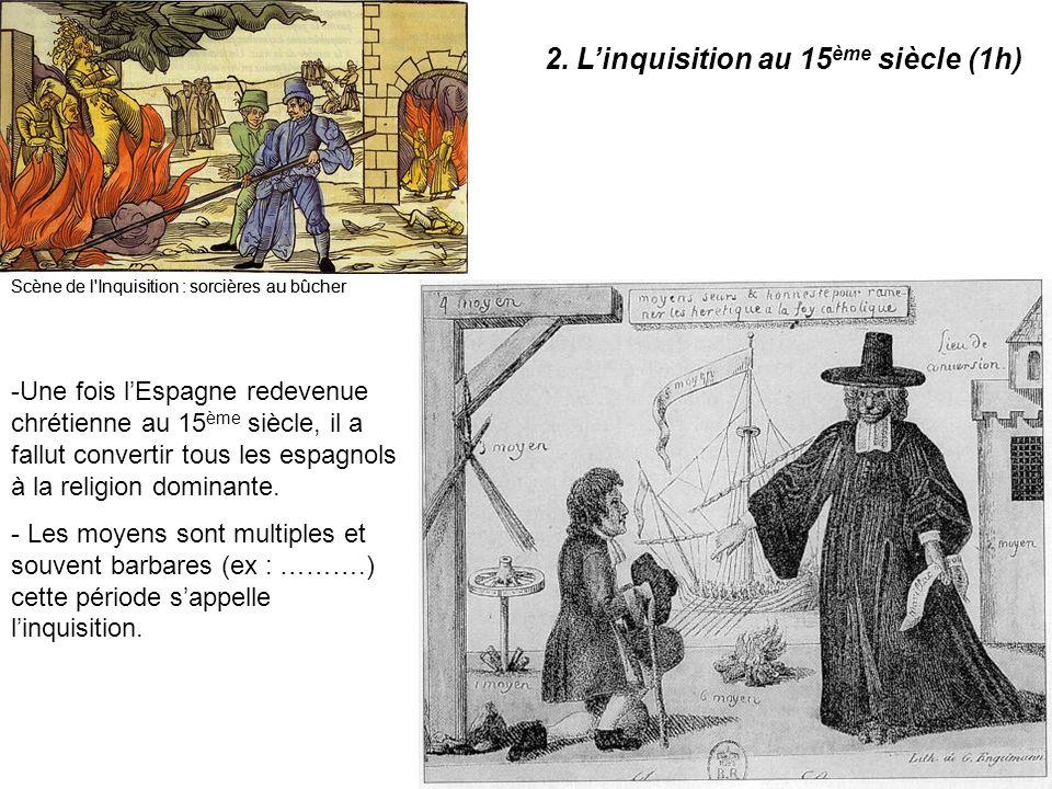 2. L'inquisition au 15ème siècle (1h)