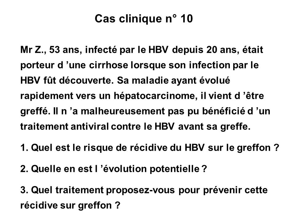 Cas clinique n° 10
