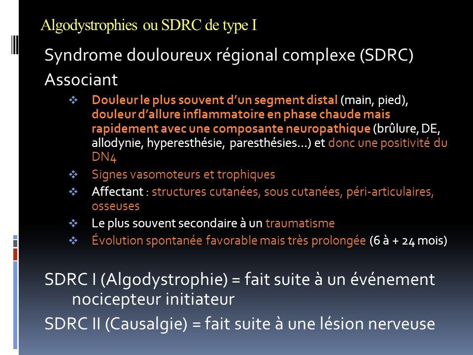 Algodystrophies ou SDRC de type I