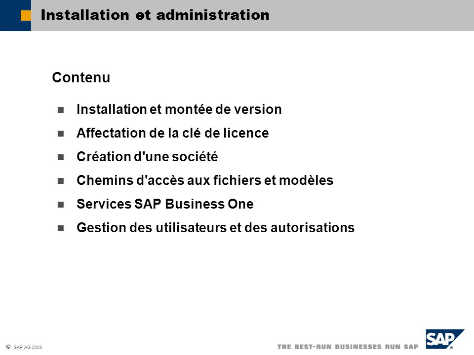 Installation et administration