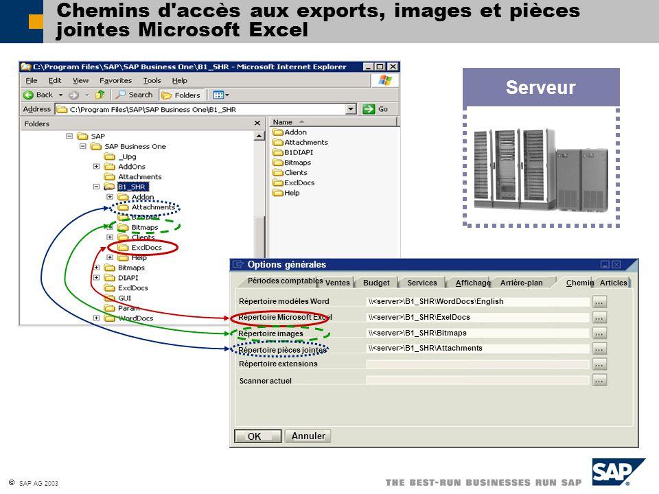 Chemins d accès aux exports, images et pièces jointes Microsoft Excel