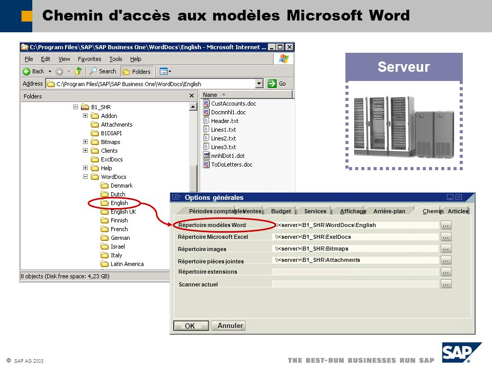 Chemin d accès aux modèles Microsoft Word