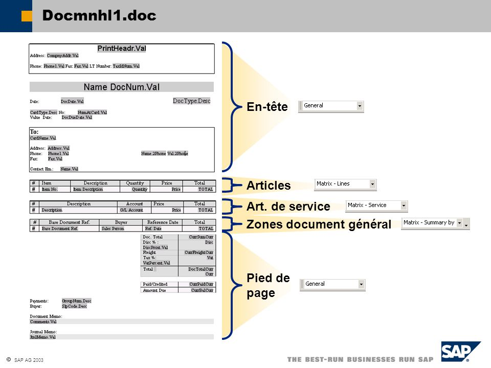 Docmnhl1.doc En-tête Articles Art. de service Zones document général
