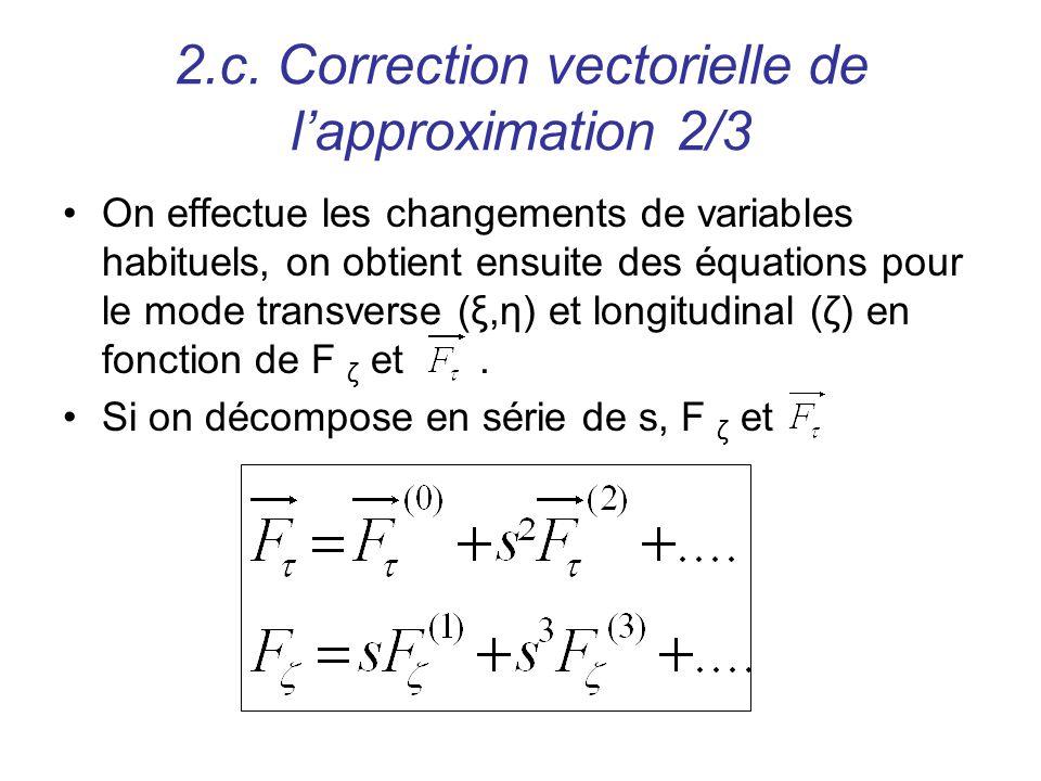 2.c. Correction vectorielle de l'approximation 2/3