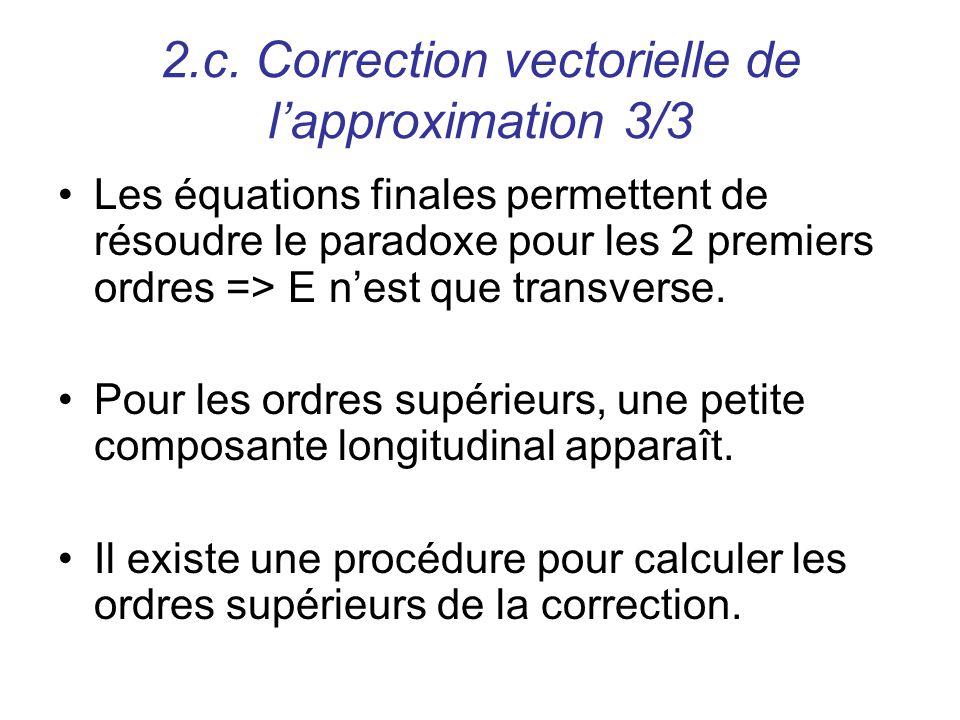 2.c. Correction vectorielle de l'approximation 3/3