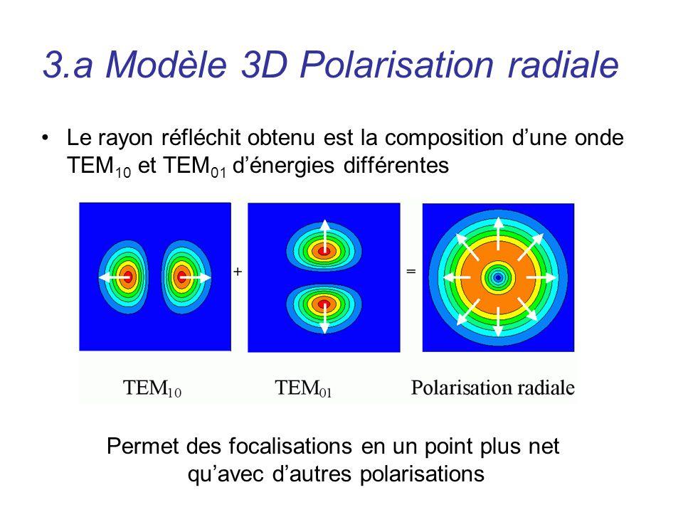 3.a Modèle 3D Polarisation radiale