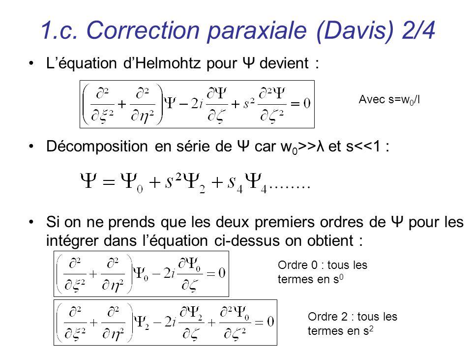 1.c. Correction paraxiale (Davis) 2/4