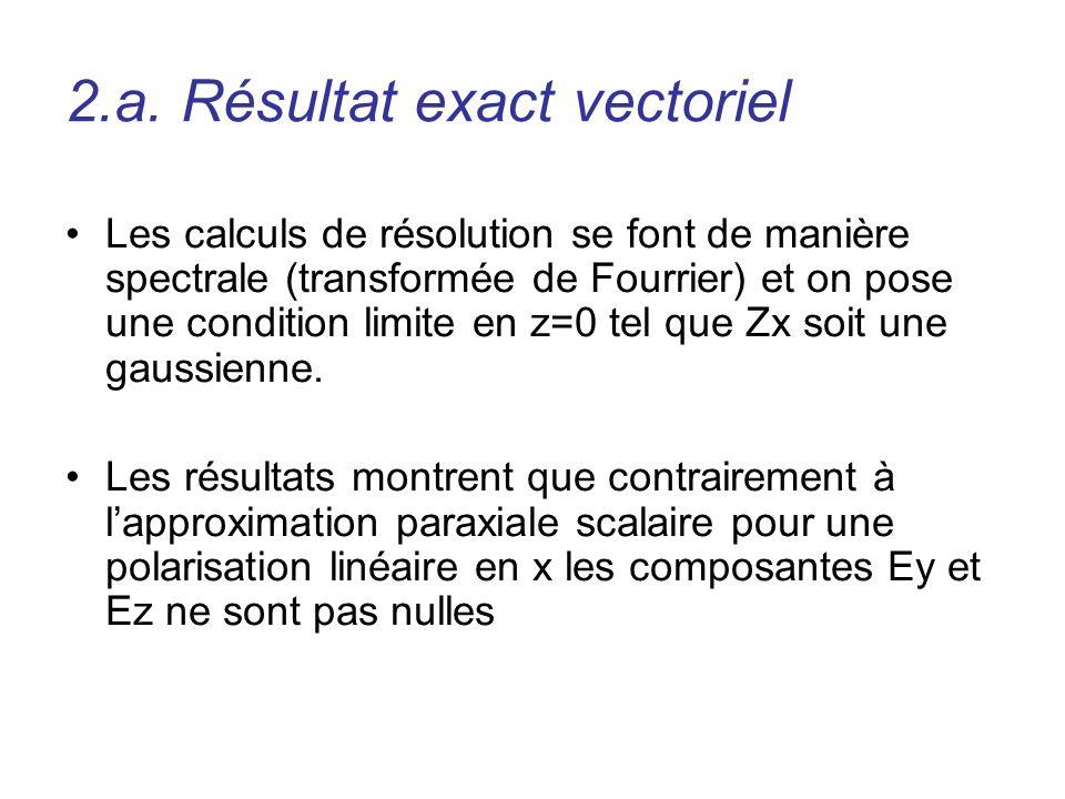 2.a. Résultat exact vectoriel