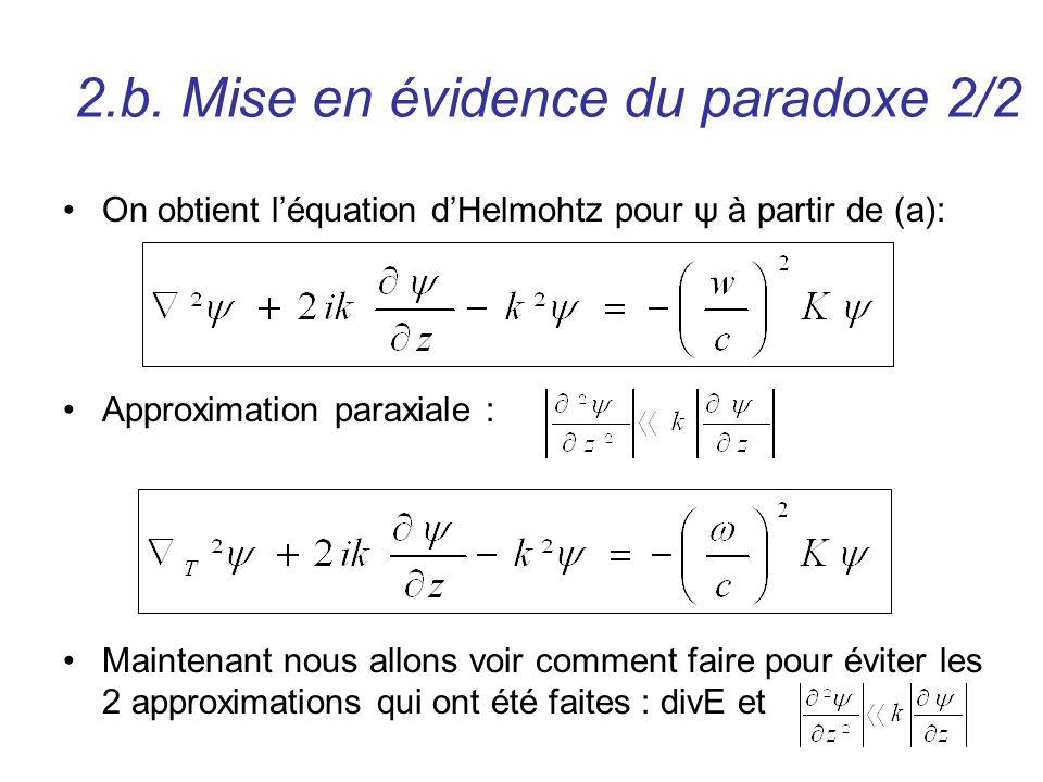 2.b. Mise en évidence du paradoxe 2/2