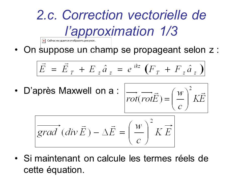 2.c. Correction vectorielle de l'approximation 1/3