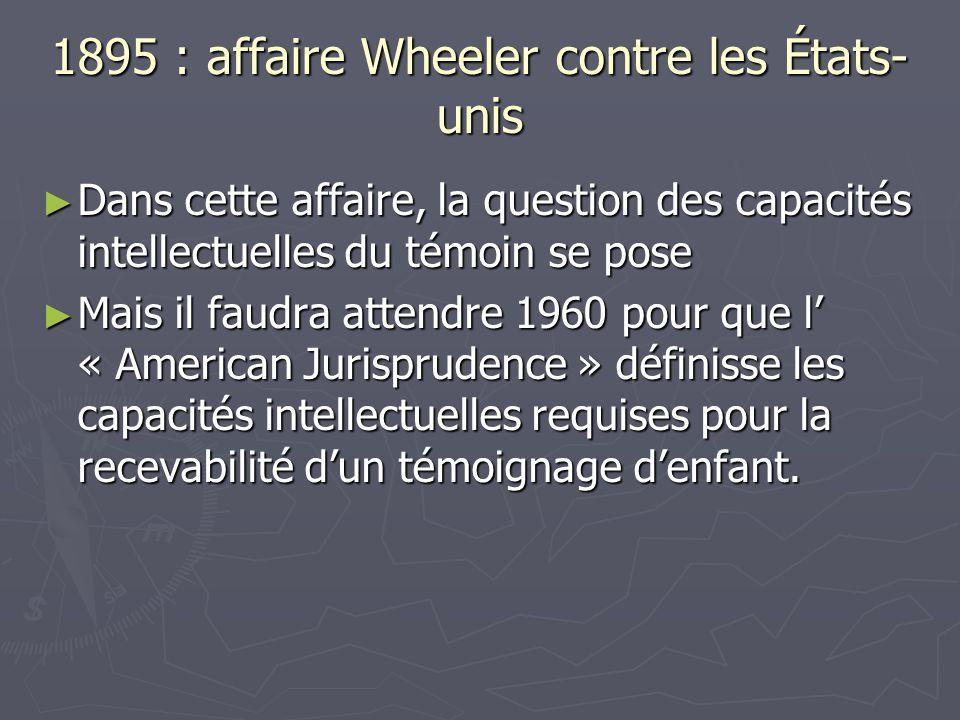 1895 : affaire Wheeler contre les États-unis