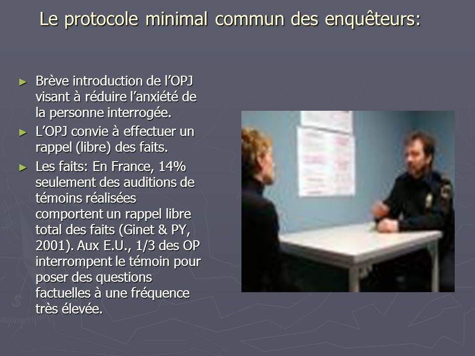 Le protocole minimal commun des enquêteurs: