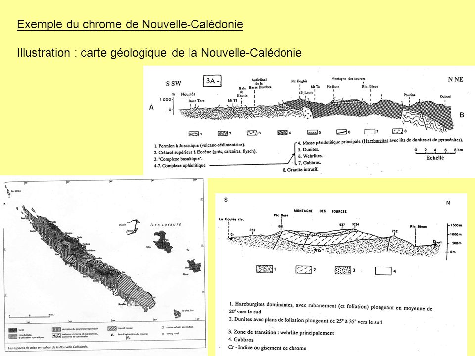 Exemple du chrome de Nouvelle-Calédonie