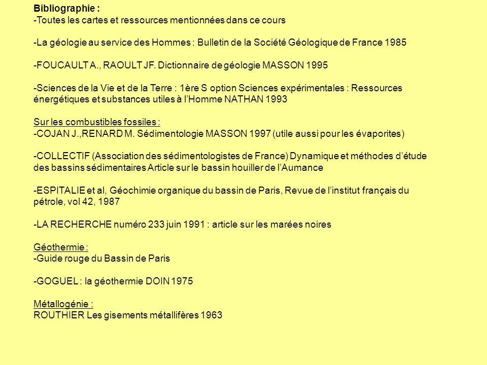 Bibliographie : -Toutes les cartes et ressources mentionnées dans ce cours.
