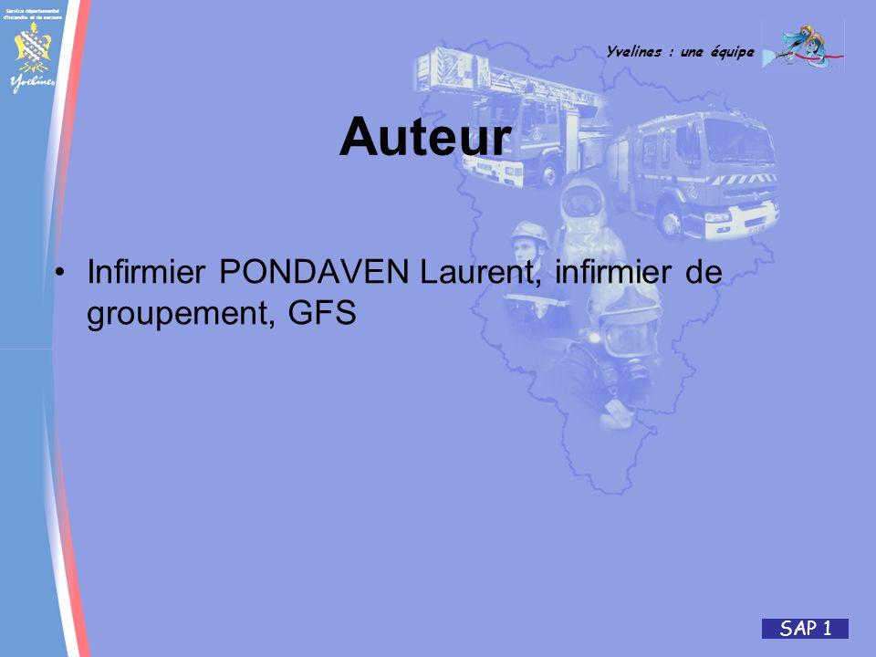 Auteur Infirmier PONDAVEN Laurent, infirmier de groupement, GFS