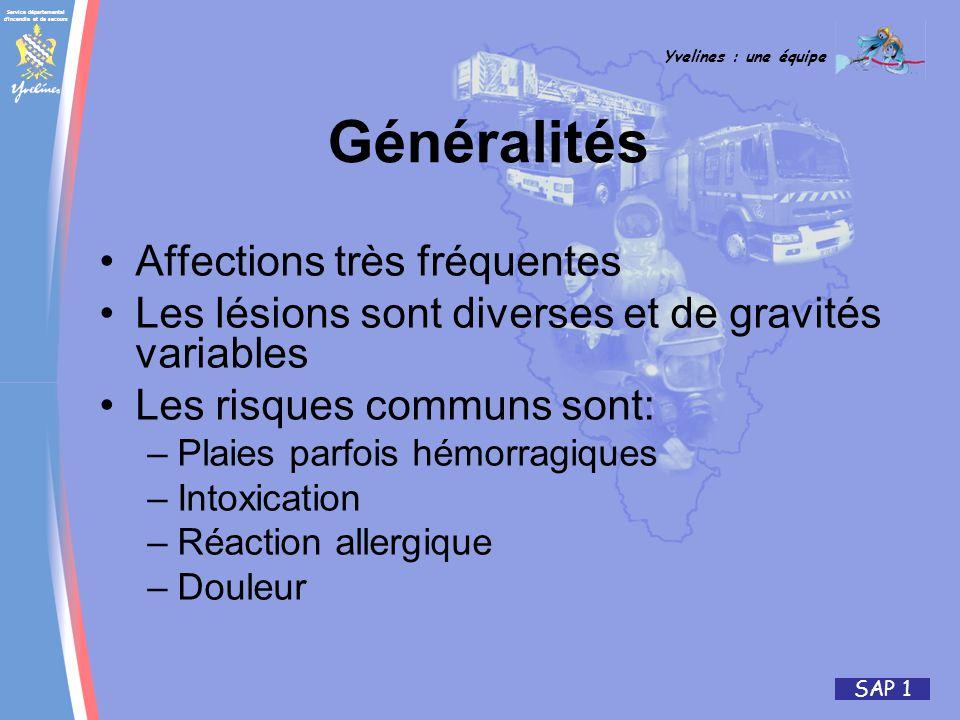 Généralités Affections très fréquentes