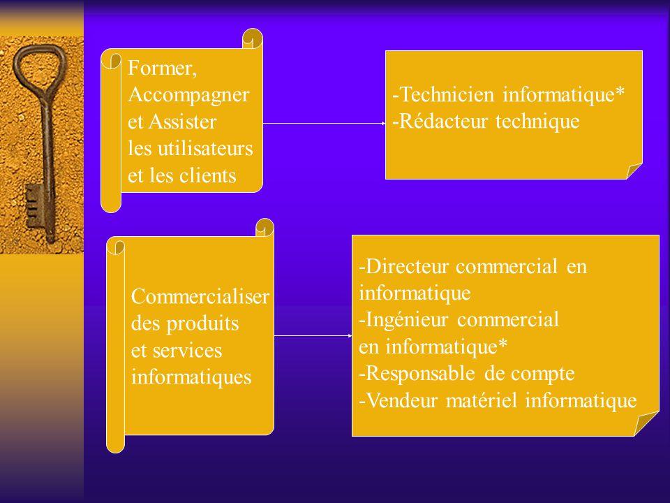 Former, Accompagner. et Assister. les utilisateurs. et les clients. -Technicien informatique* -Rédacteur technique.
