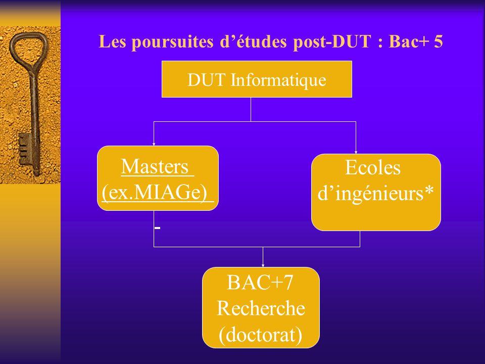 Les poursuites d'études post-DUT : Bac+ 5