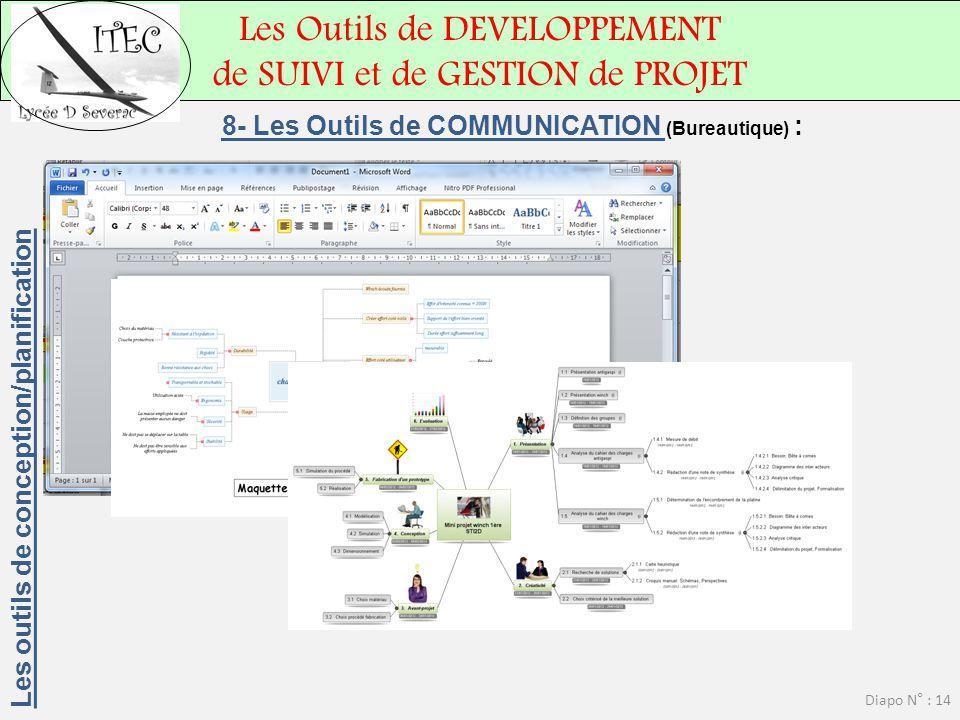 8- Les Outils de COMMUNICATION (Bureautique) :