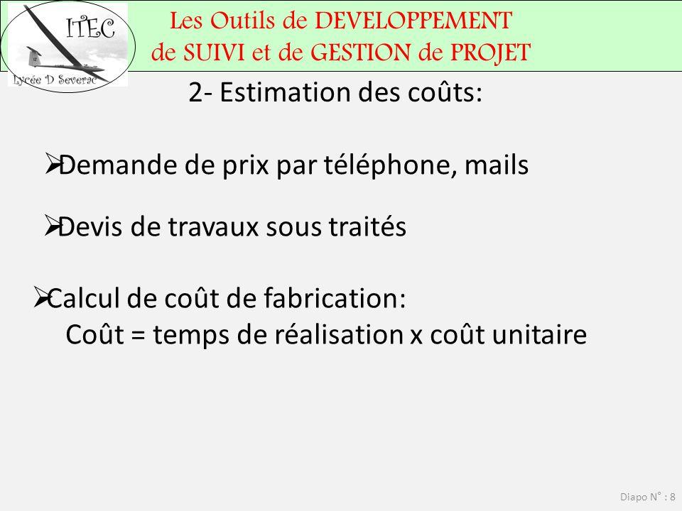 2- Estimation des coûts: