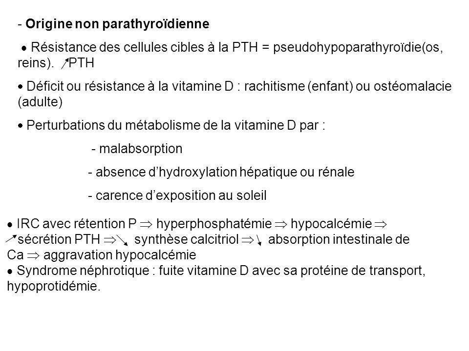Origine non parathyroïdienne