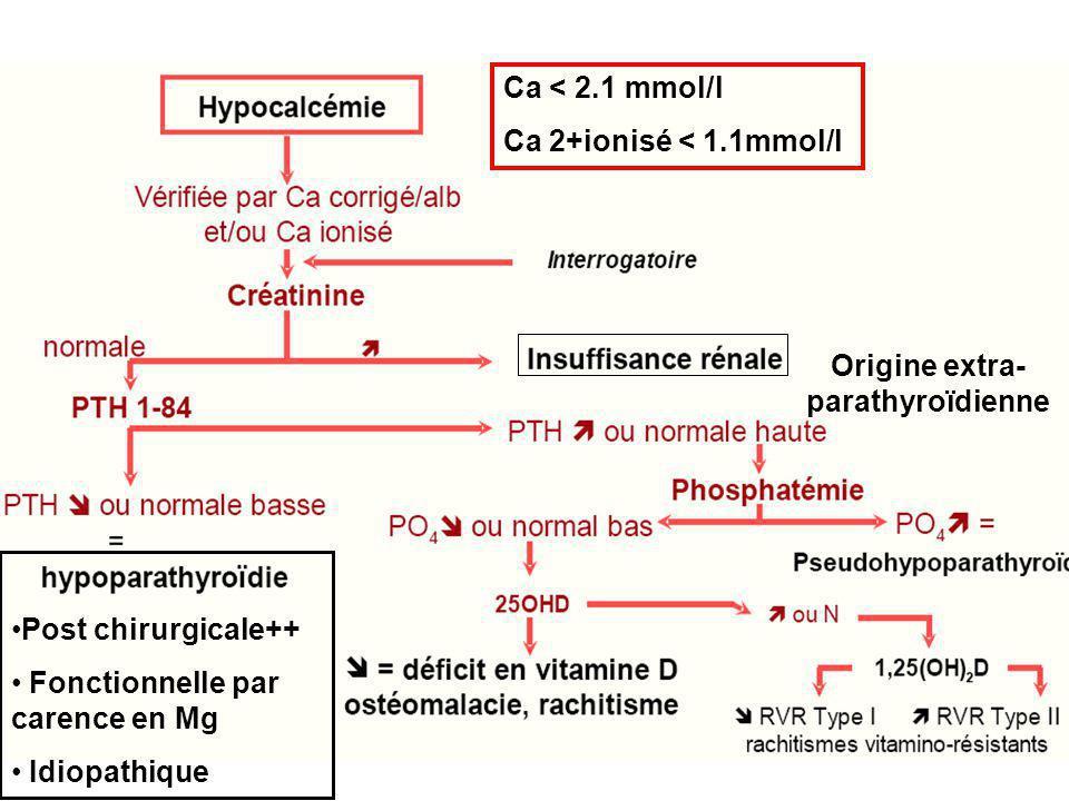 Origine extra- parathyroïdienne