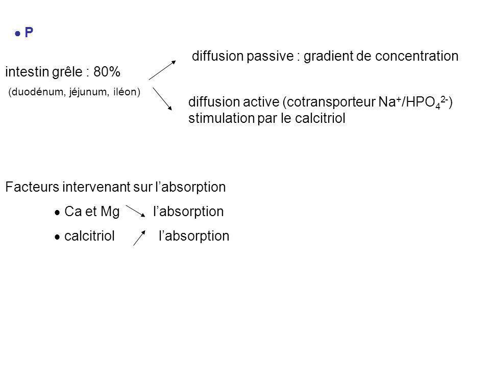 diffusion passive : gradient de concentration