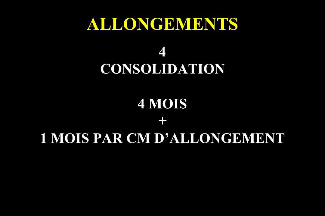 4 CONSOLIDATION 4 MOIS + 1 MOIS PAR CM D'ALLONGEMENT