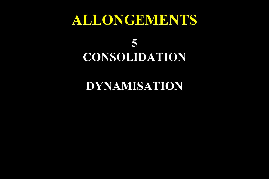 5 CONSOLIDATION DYNAMISATION