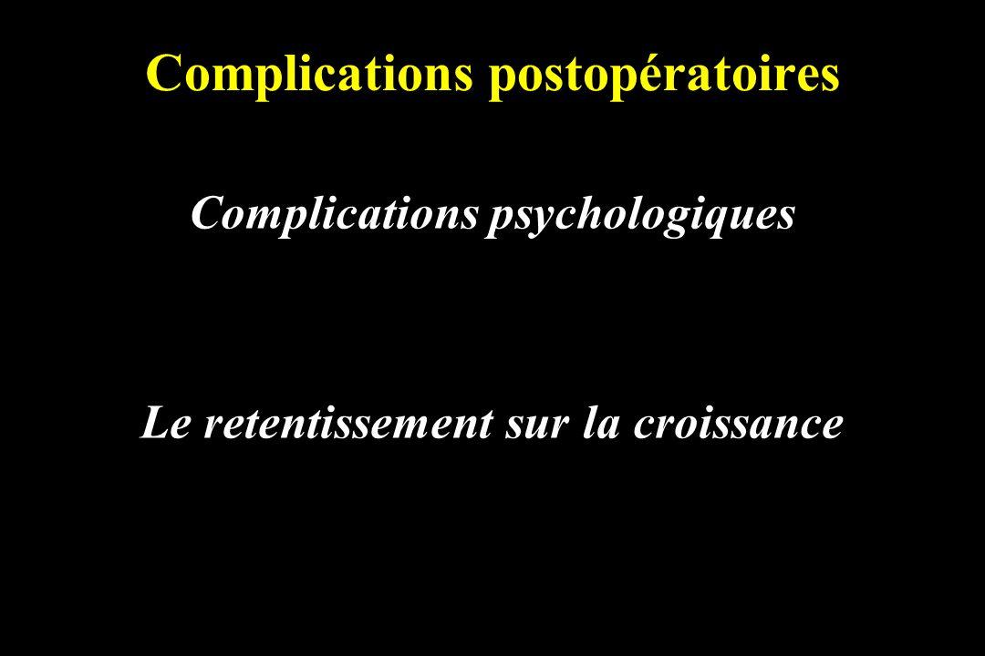 Complications postopératoires