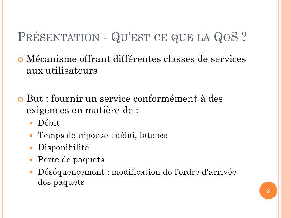 Présentation - Qu'est ce que la QoS