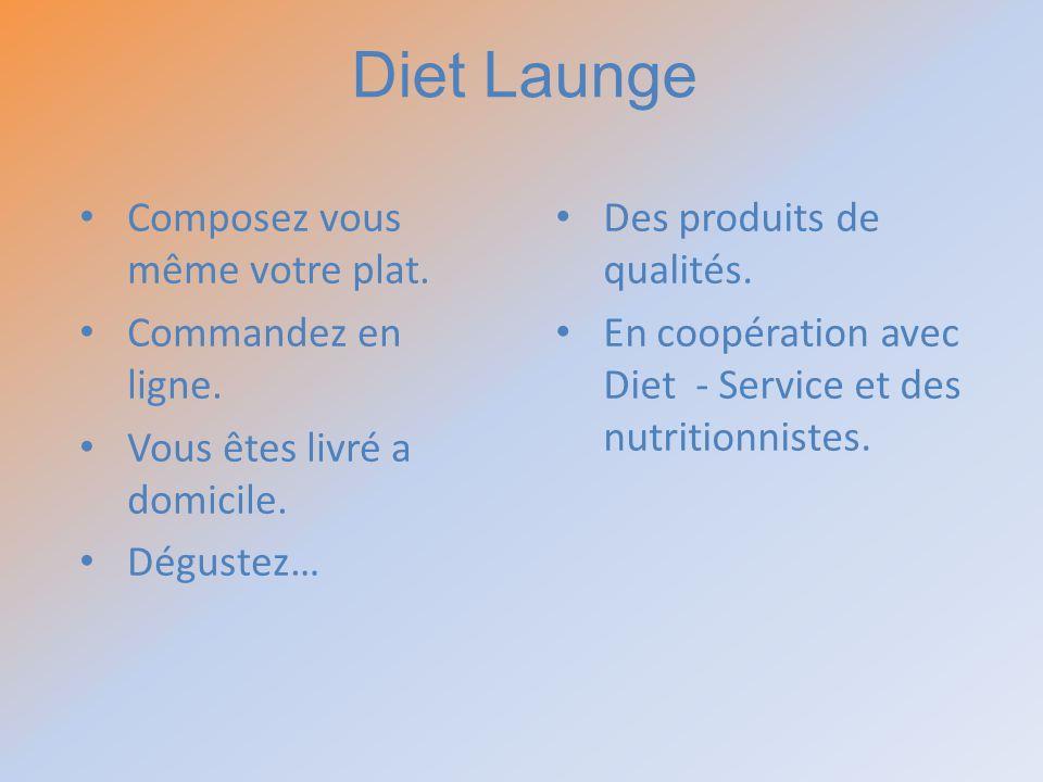 Diet Launge Composez vous même votre plat. Commandez en ligne.
