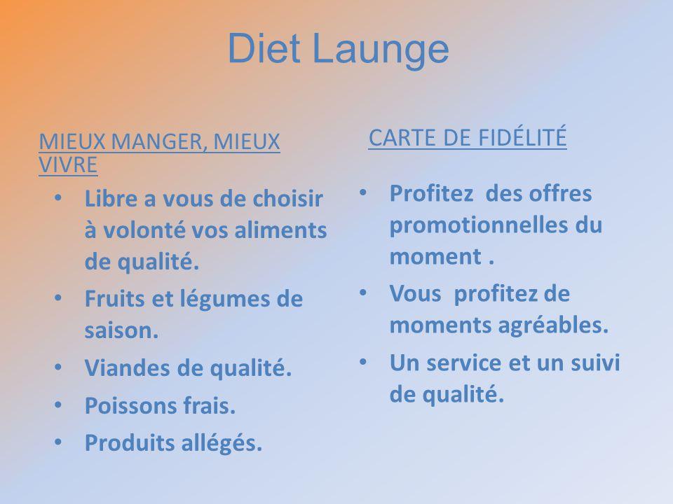 Diet Launge CARTE DE FIDÉLITÉ