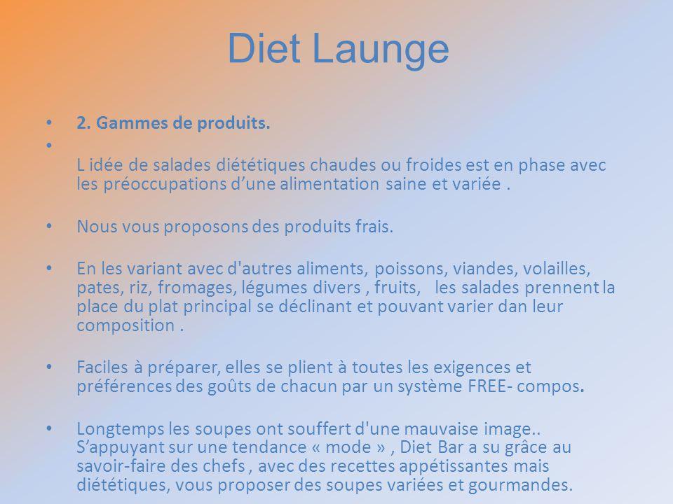 Diet Launge 2. Gammes de produits.