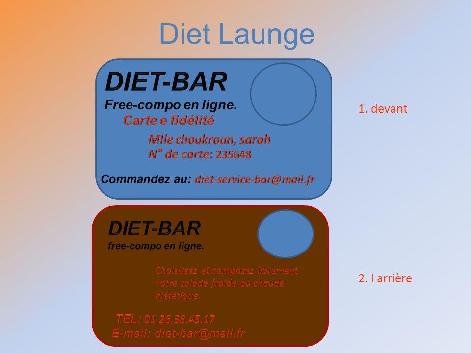 Diet Launge DIET-BAR DIET-BAR Free-compo en ligne.