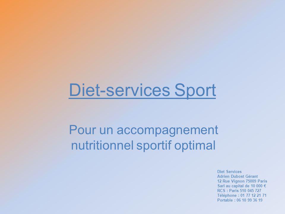 Pour un accompagnement nutritionnel sportif optimal