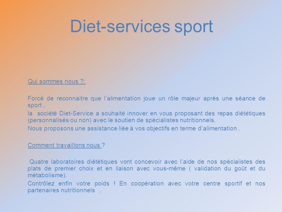 Diet-services sport Qui sommes nous :