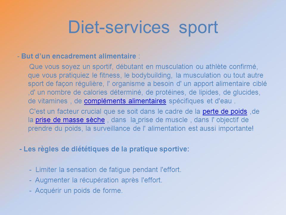 Diet-services sport