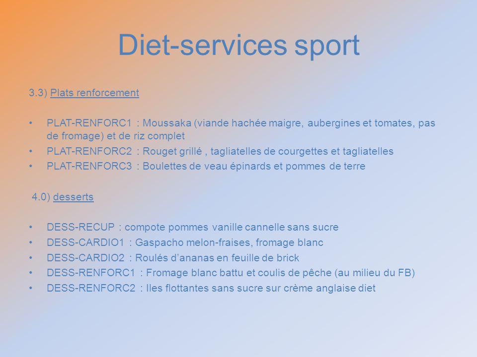 Diet-services sport 3.3) Plats renforcement